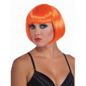 Forum Neon Orange Bob Wig Arizona Fun Services Tempe Arizona