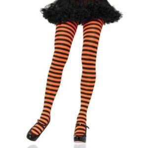 Leg Avenue Black and Orange Striped tights Arizona Fun Services Tempe