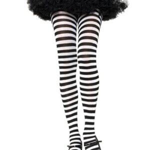 Leg Avenue Black and White Striped Tights Arizona Fun Services Tempe