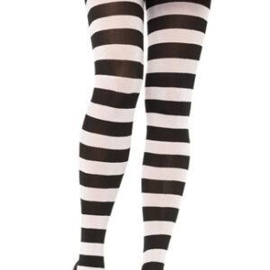 Leg Avenue Wide Stripe Opaque Black and White Tights Arizona Fun Services Tempe