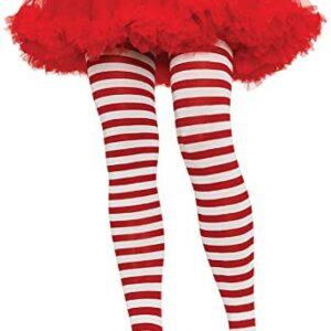 Leg Avenue Red and White Striped Tights Plus Arizona Fun Services Tempe