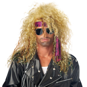 California Costume Heavy Metal Rocker Blonde Wig Arizona Fun Services Tempe Arizona
