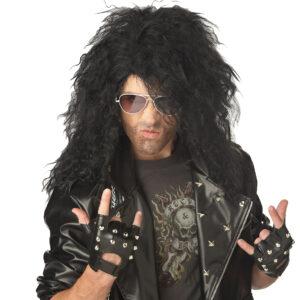 California Costume Heavy Metal Rocker Black Wig Arizona Fun Services Tempe Arizona